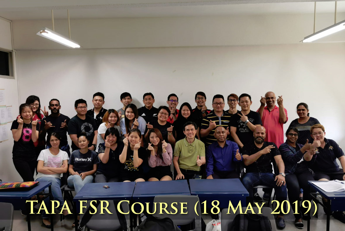 TAPA FRS Course (18 Mar 2019)